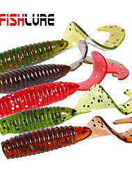 """24 pcs Leurre souple / Kits de leurre Marron / Vert / Rouge / Vert foncé / Café 1.2 g/1/18 Once,45 mm/1-3/4"""" pouce,Plastique souple / PVC"""