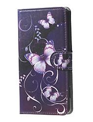 Pour Coque Nokia Portefeuille Porte Carte Avec Support Coque Coque Intégrale Coque Papillon Dur Cuir PU pour Nokia Autre