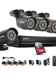 annke 8ch sistema 960H cctv videoregistratore impermeabile 900tvl sicurezza domestica videosorveglianza kit 1TB HDD