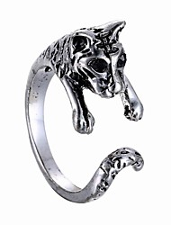 Creative Opening 3D Alloy Animal Tiger Ring