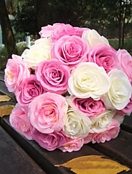 10 Heads Rose for Wedding, silk flowers artificial flowers for wedding home decoration