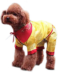 Dog Coat / Clothes/Clothing Yellow Winter Fashion