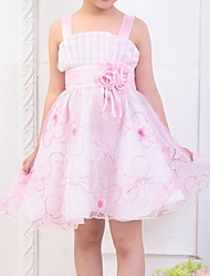 Girl's Blue / Pink / Purple / Yellow Dress,Bow Polyester Summer / Spring