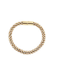 Fashion Women Trendy Crystal Bar Twisted Magnet Closure Bracelet
