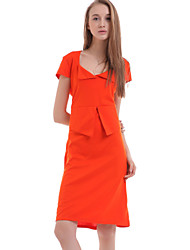 YIZOO Women's Blue/Orange/Green Bodycon Dress