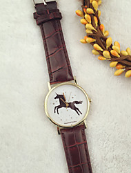Luxury Watch Men Newly Design Vintage Brief Painting Horse Watch Quartz Wrist Watches Relogio Masculino Cool Watches Unique Watches