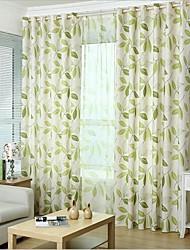 Dois Painéis Tratamento janela Rústico Quarto Linho/Mistura de Algodão Material Cortinas cortinas Decoração para casa For Janela