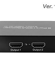 seehen hdmi splitter 1x2 partagé full hd 3d 1.3 une entrée hdmi à 2 hdmi (support 1080p)