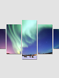 2016Modern Night Sky Painting On The Wall 5 Piece Modular Pictures For Linving Room Canvas Art Prints No Frame