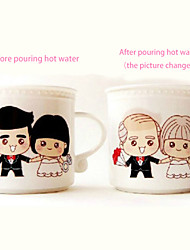 """ Color Changing Mugs Milk Coffee Cup Color Changing Mugs Couple GiftsWhen Heated Can Change Picture"""