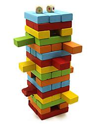 деревянные красочных блоков головоломки домино настольные игры мозг игры