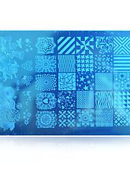 5pcs New 2016 DIY Beauty Image Nail Stencils Nail Art Stamping Plates Polish Templates DIY Tools HK09
