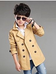 Boy's 120-170CM High Cotton Jacket & Coat / Trench Coat , Spring / Fall Long Sleeve