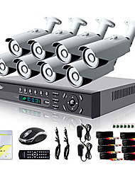 Liview® 8CH HDMI 960H Network DVR 700TVL Outdoor Day Night Security Camera System