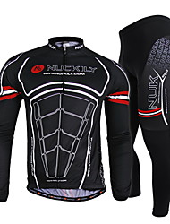NUCKILY® Cycling Jersey with Tights Men's Long Sleeve BikeBreathable / Quick Dry / Windproof / Ultraviolet Resistant / Moisture