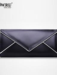 HOWRU ® Women 's PU Long Wallet/Card/Clutch bag-Black