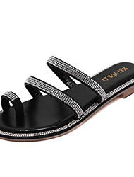 Women's Shoes Flat Heel Slingback Sandals Casual Black / Silver