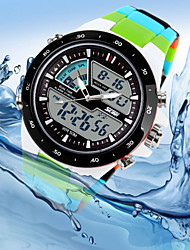 Men's Watch Sports Japanese Quartz and Digital Multi-Functional Dual Time Zones Silicone Watches (Assorted Color) Wrist Watch Cool Watch Unique Watch
