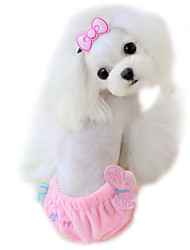Dog Pants Yellow / Blue / Pink Dog Clothes Summer Bowknot Fashion