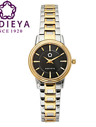 KEDIEYA SIlver Gold 316L Stainless Steel 50M Waterproof Quartz Watch Ladies Womens Dress Watches Cool Watches Unique Watches