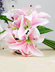 9 Heads High Quality Lilies Flowers Silk Flower Artificial Flowers for Wedding home Decoration