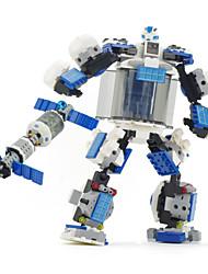 miniatures transfor robot de blocs de construction de cadeau de bébé de fantaisie 2 en 1 figures miniatures