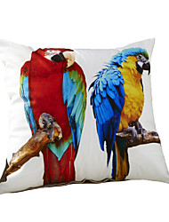 3D Design Print Two Parrots Birds Decorative Throw Pillow Case Cushion Cover for Sofa Home Decor Polyester Soft Material