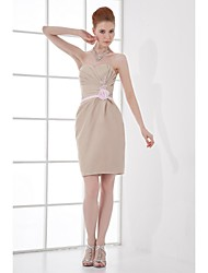 Lanting Knee-length Taffeta Bridesmaid Dress - Champagne Sheath/Column Sweetheart