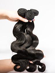 cabelo humano 3pieces 16 polegadas / lot tece extensões de cabelo brasileiro do cabelo virgem emaranhado livre humanos