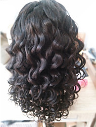 """frente del cordón del pelo brasileño virginal pelucas pelucas de pelo humano para las mujeres negras """"8 -30"""" peluca parte del cuerpo u"""