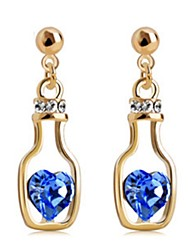 Austria Crystal Drop Earrings for Women Bottle Earrings Fashion Jewelry Accessories