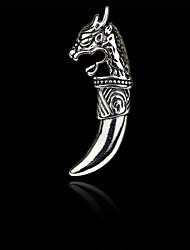 mode de dragon cru loup dent de broche hommes