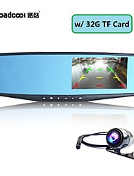 "4.3"" 1080P FHD Rearview Mirror Car DVR Dash Cam Dual Lens Camera Video Recorder+32G TF Card"