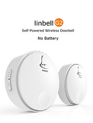 Self-generating Power Portable Wireless Doorbell Alarm Pager/No Batteries Required For The Receiver And The Transmitter