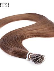 "neitsi® 20 ""1 g / s nano Ringschleife gerades Haar 100% der Menschenhaarverlängerungen # 6 sind Haar-Tools"
