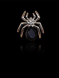 моды декор алмаз небольшой паук брошь