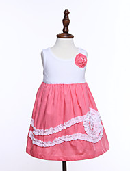 Girl's Pink Dress ,  Cotton Summer