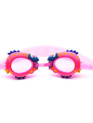 Swimming Goggles Kid's Anti-Fog / Waterproof Silica Gel PC Red / Pink / Blue / Dark Blue Dark Blue / Red / Pink / Blue