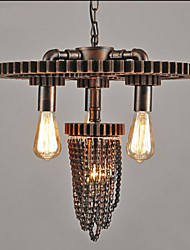 Industrial Wind Restaurant Bar Cafe Studio Gear Three Head Lamp