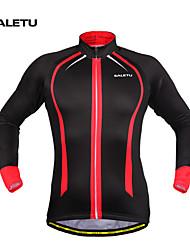 SALETU Fleece Thermal Winter Cycling Jackets Windproof Bike Bicycle Long Sleeve Jersey Shirts Ciclismo Cycling Clothing