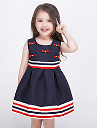 Girl's Blue Dress Rayon Summer / Spring / Fall