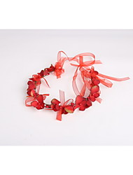 Women's / Flower Girl's Tulle / Fabric / Plastic Headpiece - Wedding / Special Occasion / Casual Wreaths 1 Piece