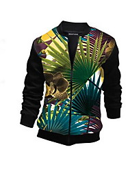 Men's Long Sleeve Jacket , Cotton Casual 3D Print Tops