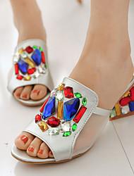 Women's Shoes  Heel Heels / Peep Toe / Slippers Sandals / Heels / Clogs & Mules Outdoor / Dress / Casual Silver / Gold