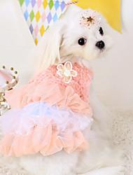 Perros Vestidos Azul / Rosado Ropa para Perro Primavera/Otoño Moda