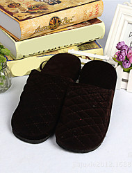 Men's Shoes Fleece Casual Slippers Casual Black / Brown