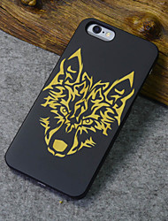Para Funda iPhone 6 / Funda iPhone 6 Plus Diseños Funda Cubierta Trasera Funda Animal Dura Madera iPhone 6s Plus/6 Plus / iPhone 6s/6
