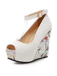 Zapatos de mujer-Tacón Cuña-Cuñas / Punta Abierta / Plataforma / D'Orsay y Dos Piezas-Sandalias-Oficina y Trabajo / Vestido / Fiesta y