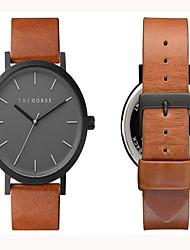 Unisex Watch Genuine Leather Japaneze Quartz Movement Case Water Resistant 3ATM Watch For Women Famous Men
