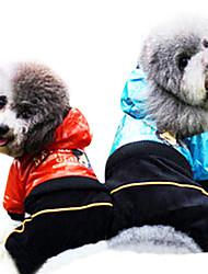Cani Impermeabile Rosso / Blu Abbigliamento per cani Estate Di tendenza